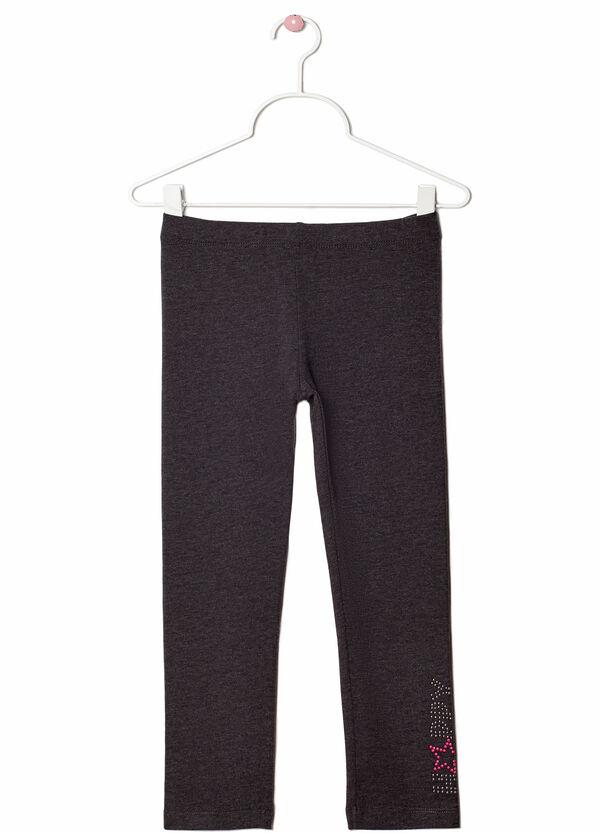 Leggings cotone stretch con strass | OVS