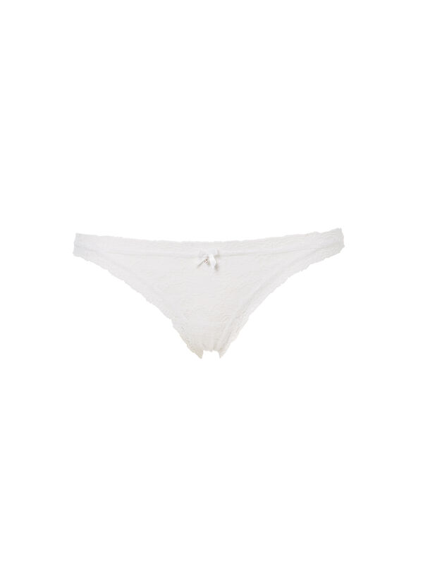 Stretch briefs with lace and bow | OVS