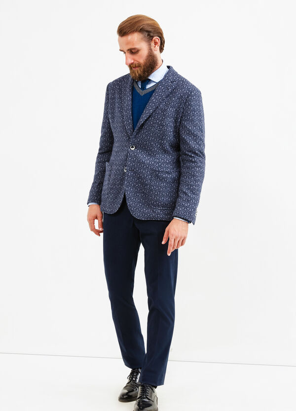Rumford solid colour wool blend jacket. | OVS