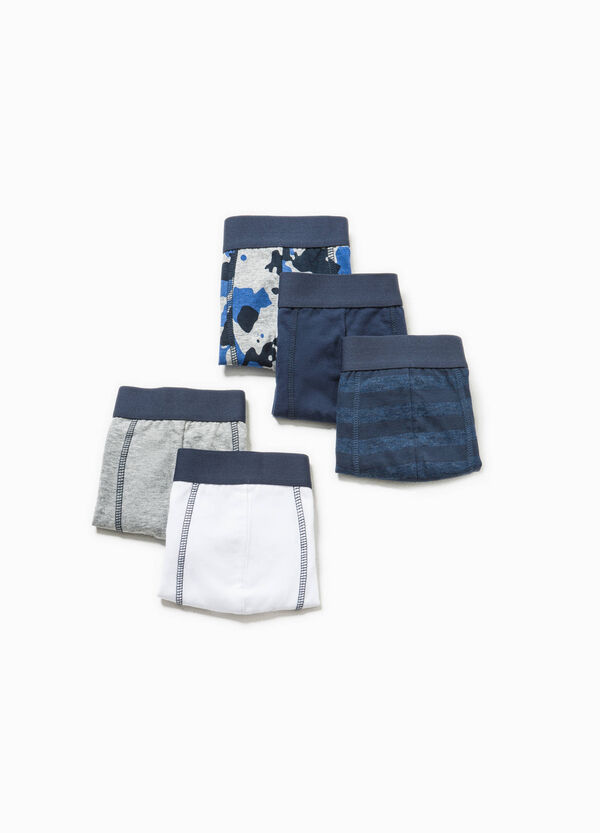 Five-pack solid colour and patterned boxers | OVS