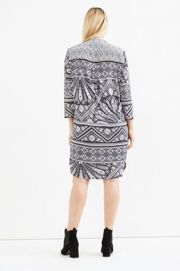 Curvy dress with Mandarin collar, Grey, hi-res