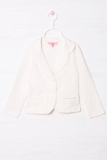 Stretch jacket with diamanté appliqué, Milky White, hi-res