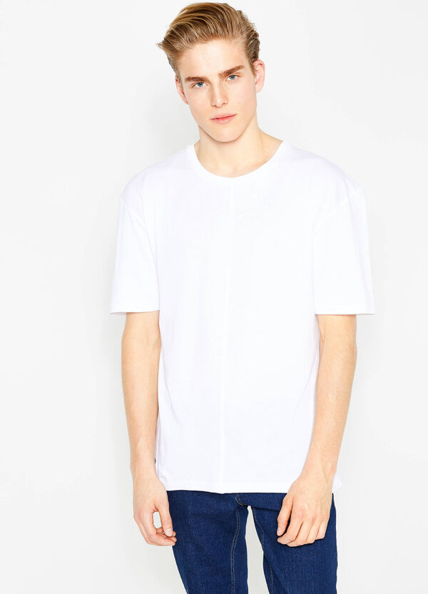Cotton T-shirt with side print | OVS