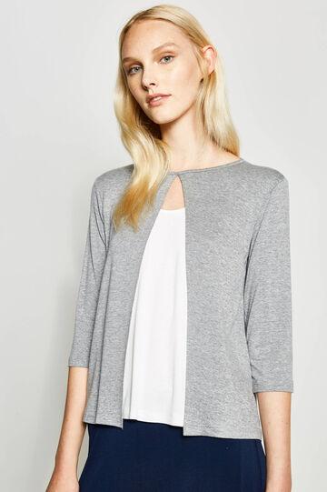 Faux layered viscose T-shirt