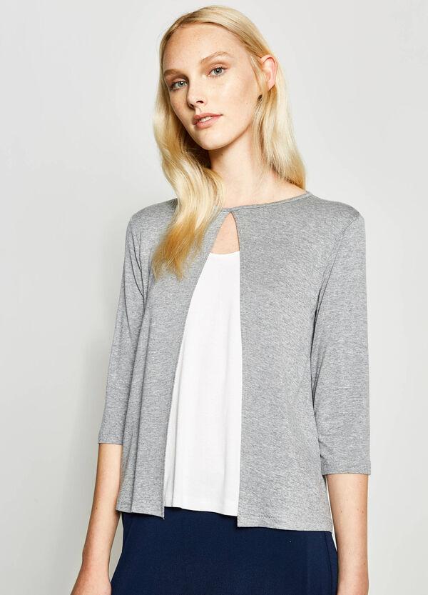 T-shirt in viscosa con finto doppio | OVS