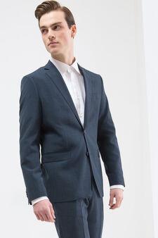 Elegant suit with regular fit, Blue, hi-res