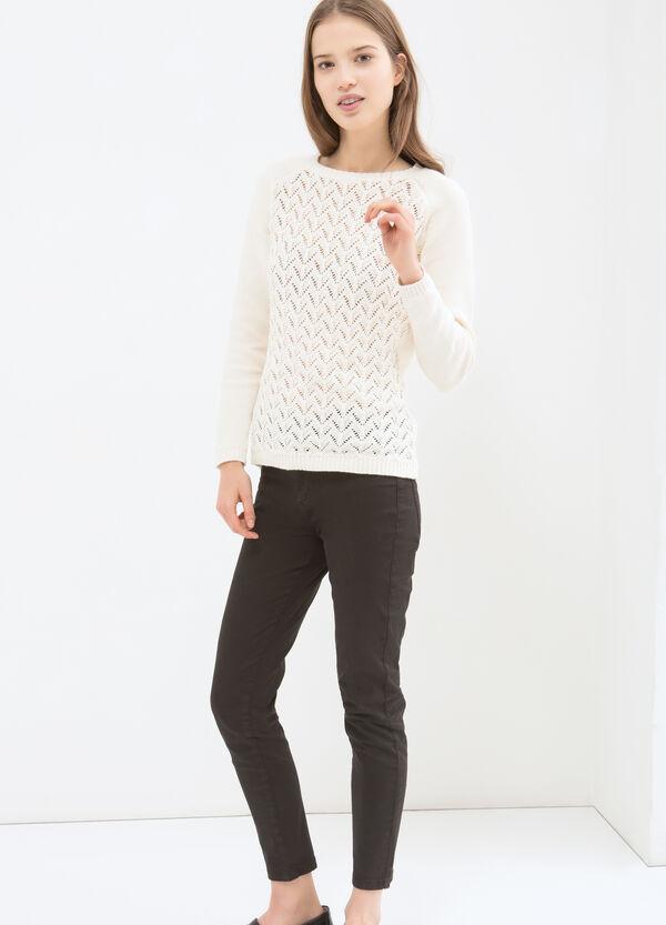 Plain openwork pullover | OVS