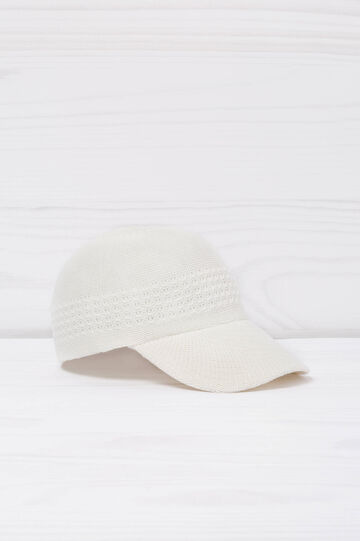Knit baseball cap, Cream White, hi-res