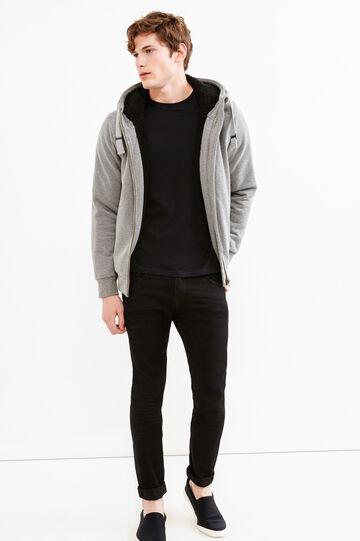 G&H hoodie with faux fur lining, Grey Marl, hi-res