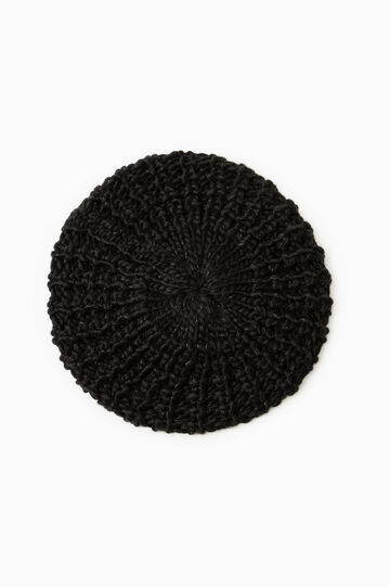 Chunky knit beret, Black, hi-res