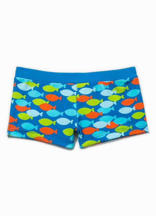 Swim boxer shorts with fish pattern | OVS