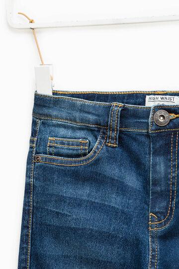 Jeans used stretch con baffature, Lavaggio medio, hi-res