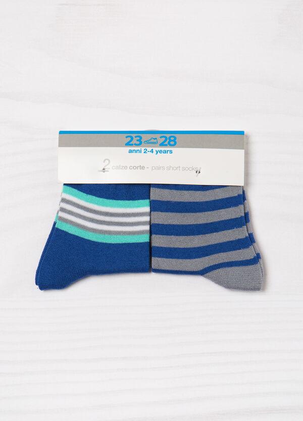 Set due paia di calze fantasia a righe | OVS