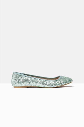 Ballerine con glitter, Verde chiaro, hi-res