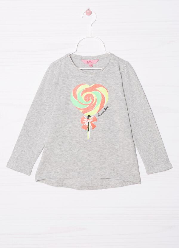 T-shirt cotone stretch con stampa | OVS