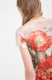 Viscose blend T-shirt with print, Red, hi-res