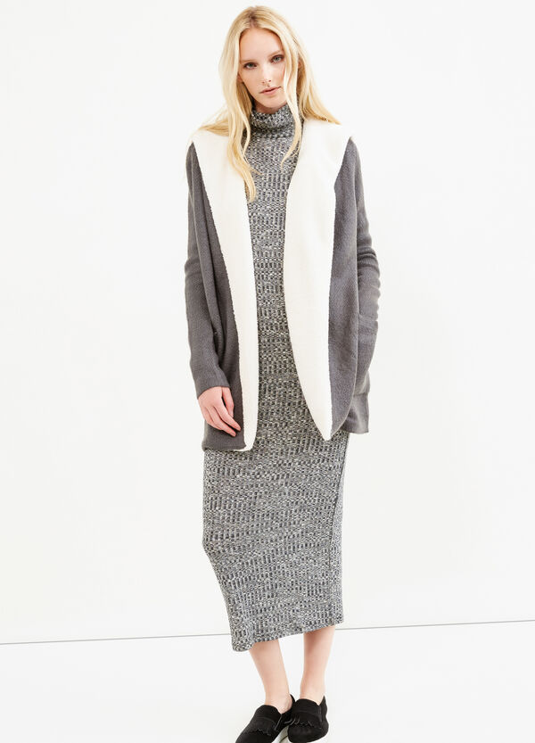 Fur lined long cardigan   OVS