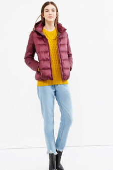 Down jacket with double pocket, Red, hi-res