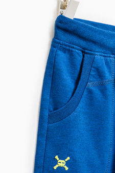 100% cotton Bermuda shorts with ribbed waist band, Royal Blue, hi-res