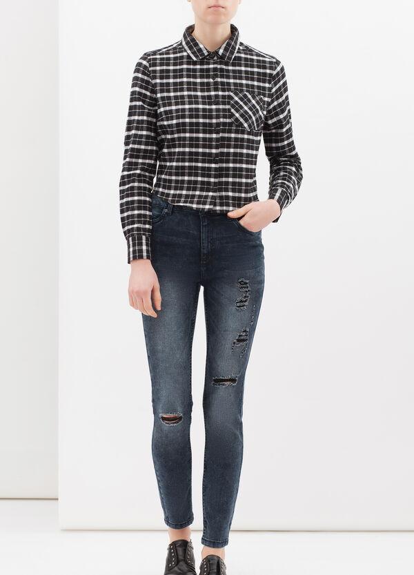 Jeans skinny fit stretch con strappi | OVS