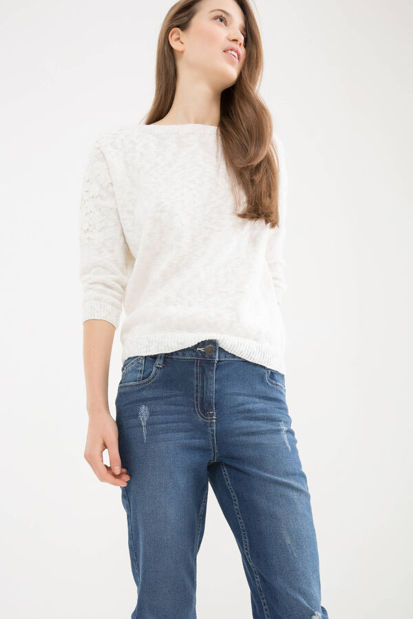 Slim-fit, worn-effect, stretch jeans   OVS