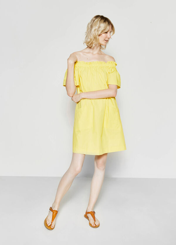 100% cotton dress with pockets | OVS