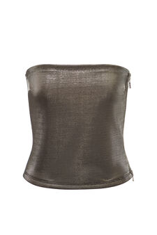 Jersey top, Jean Paul Gaultier for OVS, Grey/Silver, hi-res