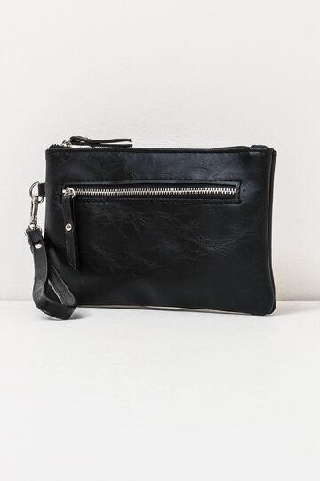 Clutch with wrist strap, Black, hi-res