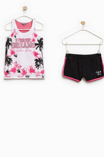 Printed top and shorts set