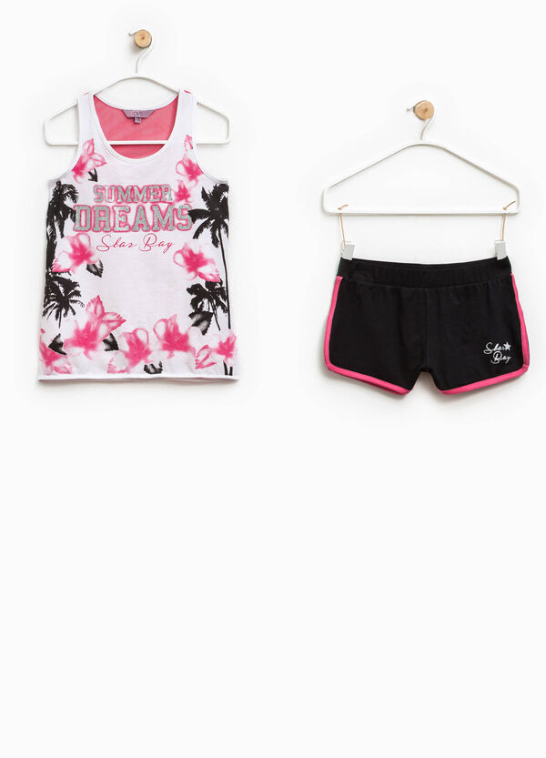 Printed top and shorts set | OVS