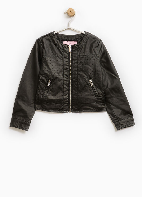 100% viscose jacket with openwork inserts | OVS