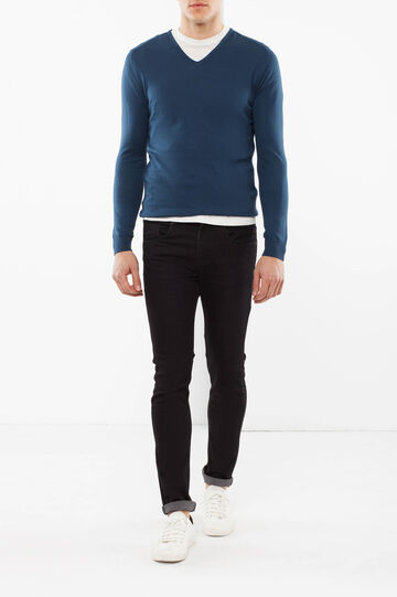 V neck Rumford jumper, Blue, hi-res