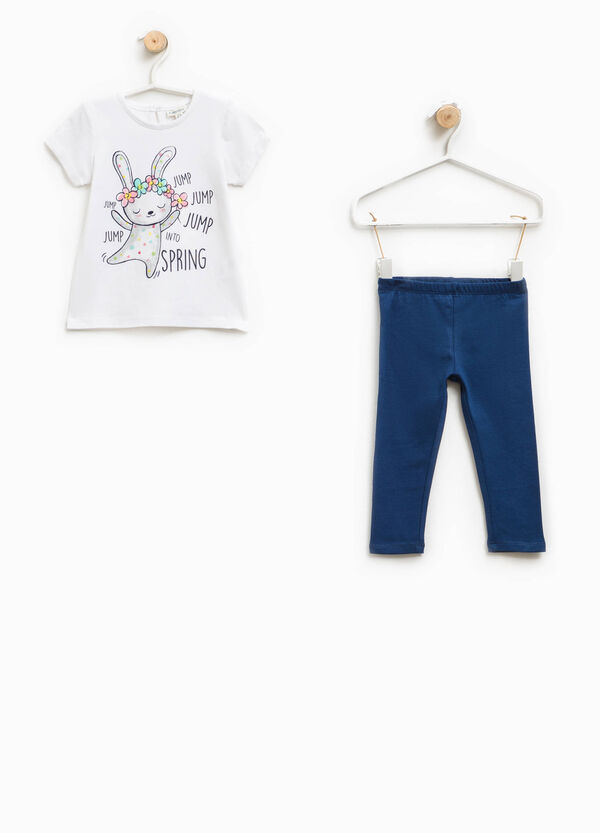 Glitter T-shirt and trousers outfit | OVS