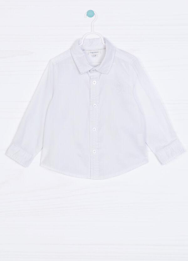 Solid colour 100% cotton shirt | OVS