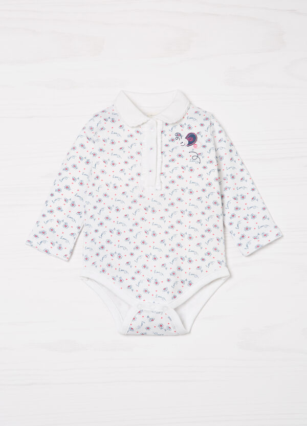 Patterned bodysuit in 100% cotton | OVS