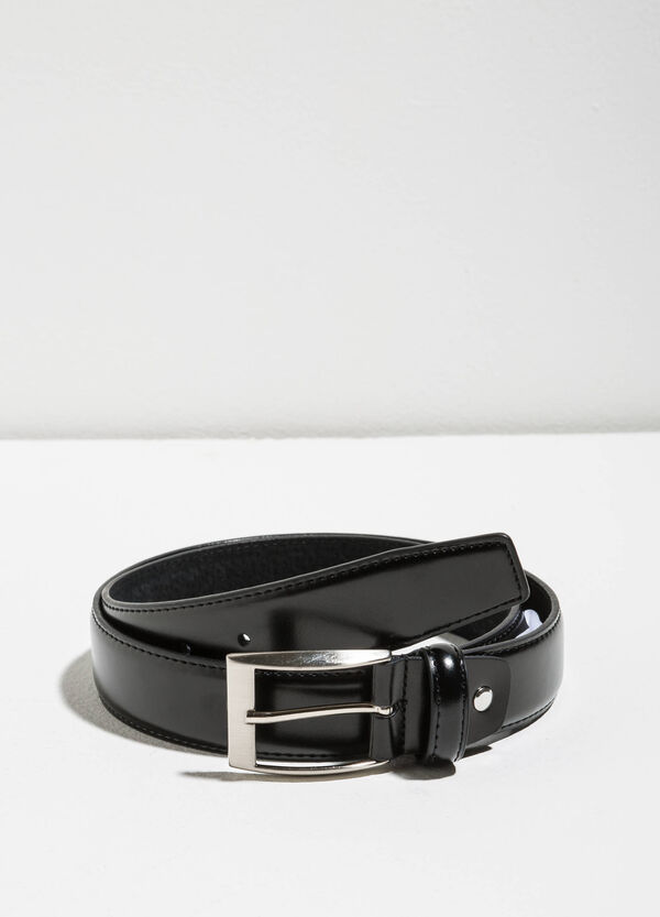 Genuine leather smooth belt | OVS