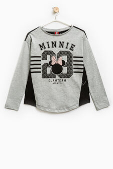 Cotton T-shirt with Minnie Mouse print, Light Grey, hi-res