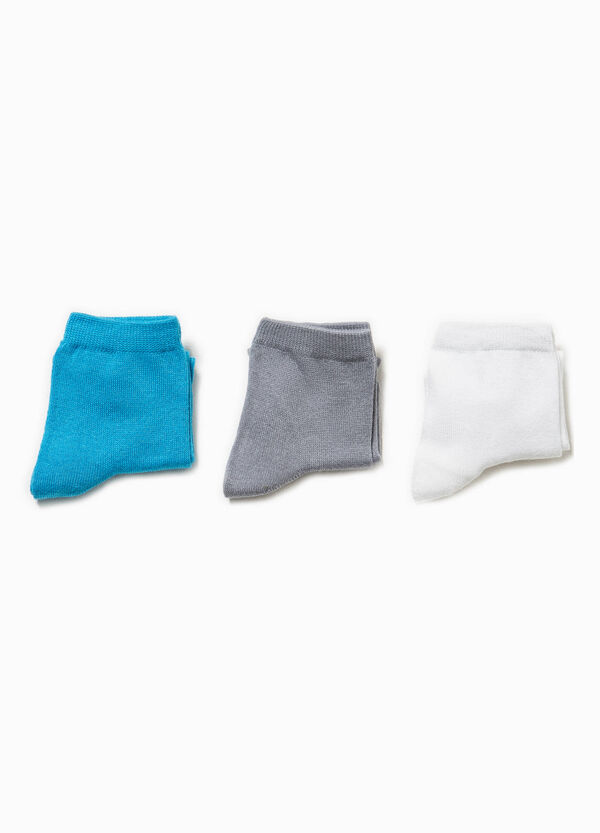 Three-pairs solid colour stretch socks | OVS