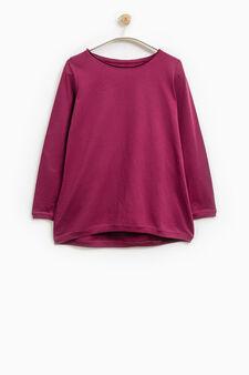 Smart Basic long-sleeved T-shirt, Fuchsia, hi-res