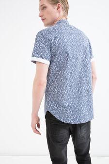 Slim-fit shirt in 100% cotton, Denim, hi-res