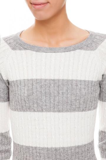 Pullover rigato, White/Grey, hi-res