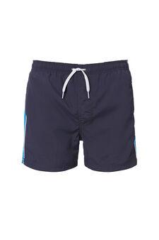 Swim boxer shorts with drawstring, Grey, hi-res