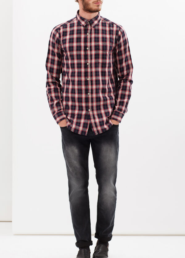 100% cotton check shirt | OVS