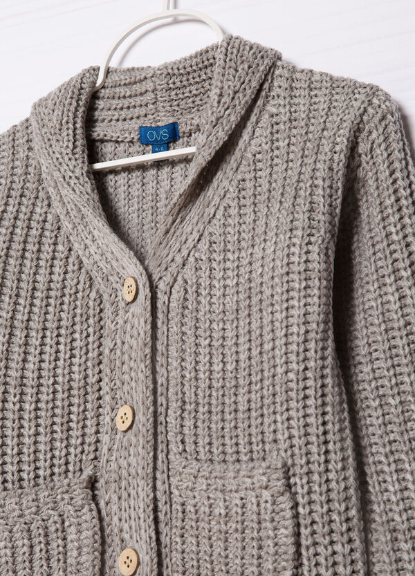Plain knitted cardigan | OVS