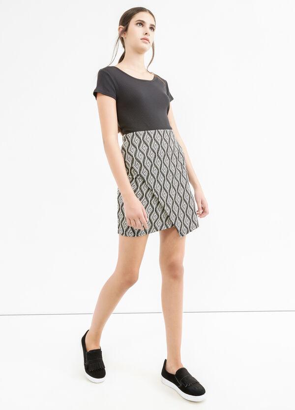 Stretch skirt with geometric pattern | OVS