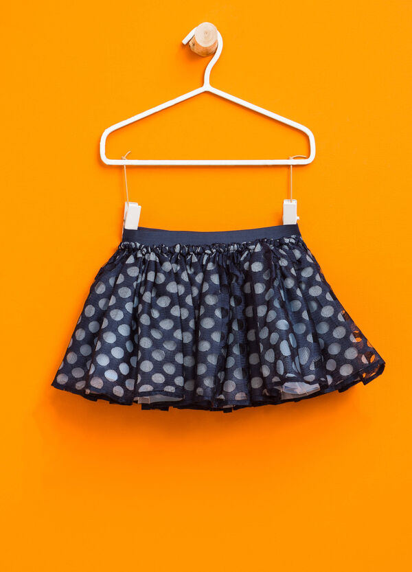 Tulle skirt with polka dot print | OVS