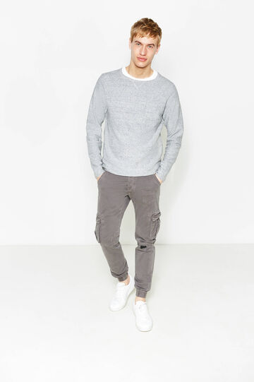 Cargo trousers with elasticated ankles