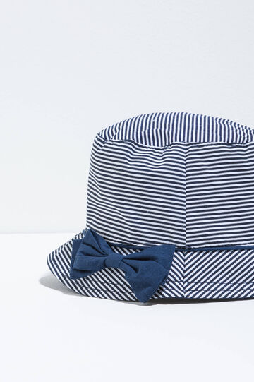 Striped fishing hat, White/Blue, hi-res