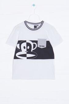 Paul Frank print cotton T-shirt, White, hi-res