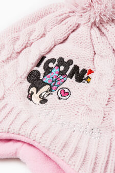 Beanie cap with Minnie Mouse embroidery, Pink, hi-res